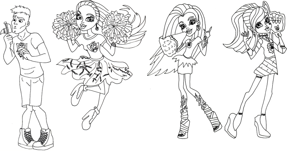 monster high coloring click here to print - Coloring Pages Monster High Venus