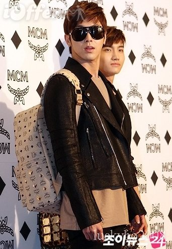 TVXQ Yunho and Changmin with MCM backpacks