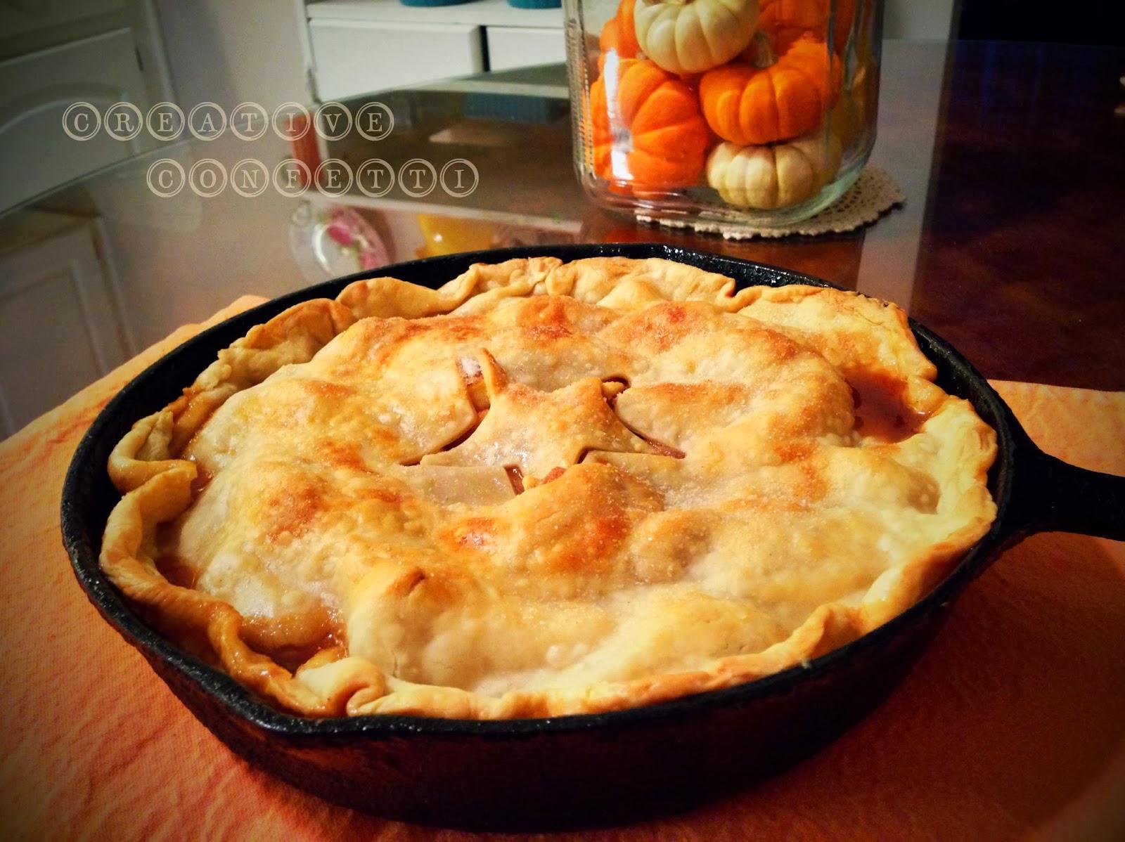 Skillet Apple Pie with Cinnamon Whipped Cream Recipe ...