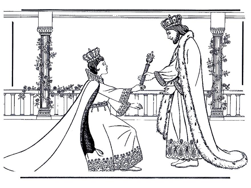 Dibujos Biblicos Para Colorear  Dibujos De La Reina Ester Para