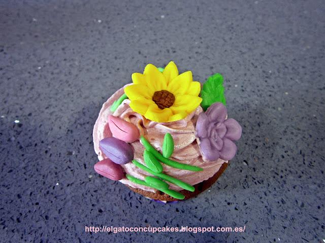 Cupcakes bouquet de flores