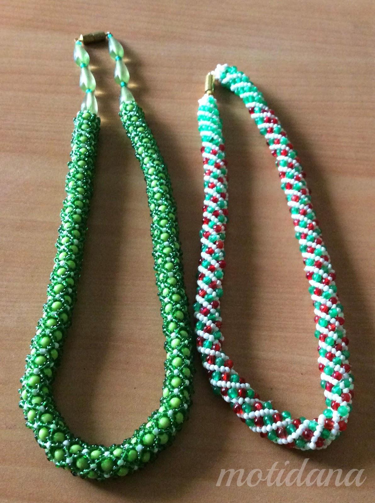 spiral rope beaded , tubular bead netting