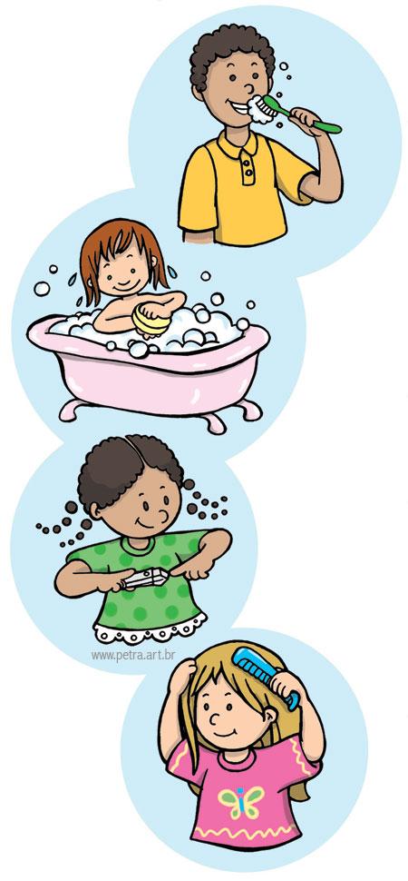 Utensilios De Baño Lista:Higiene Personal Para Ninos