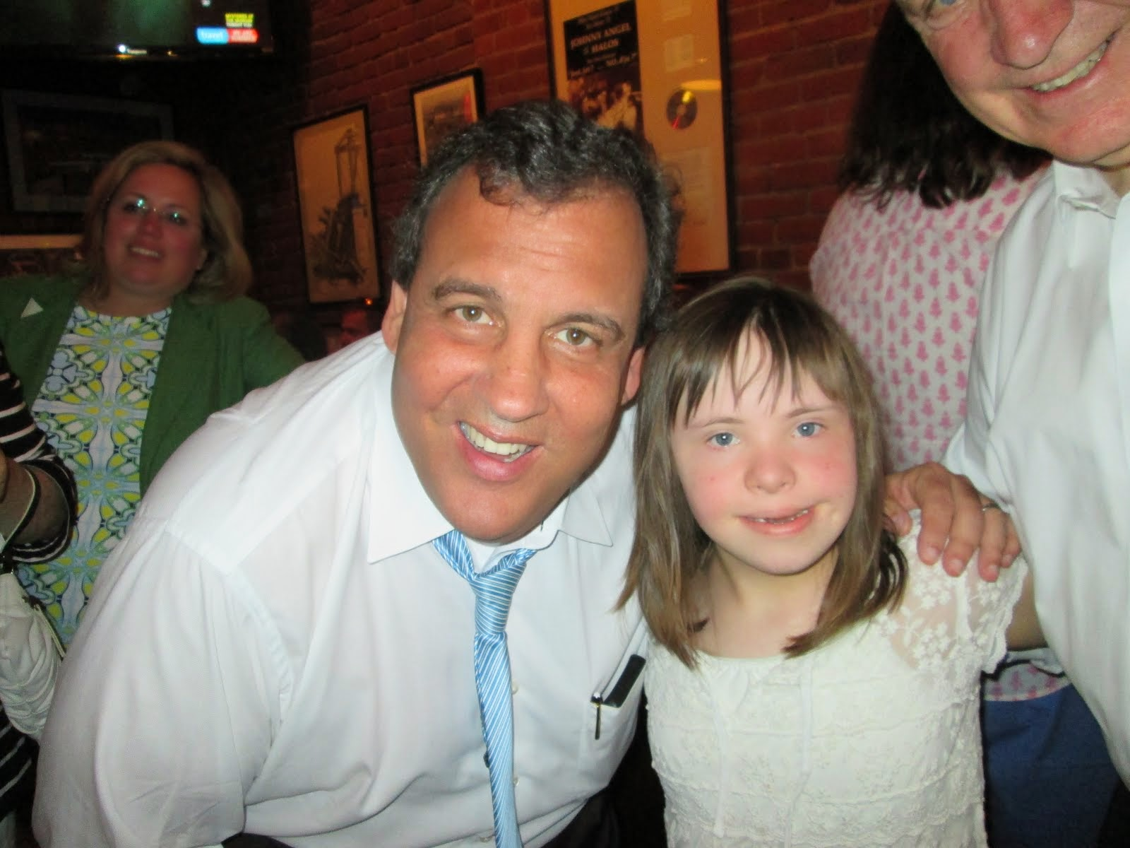 Chloe meets NJ Governor Christie