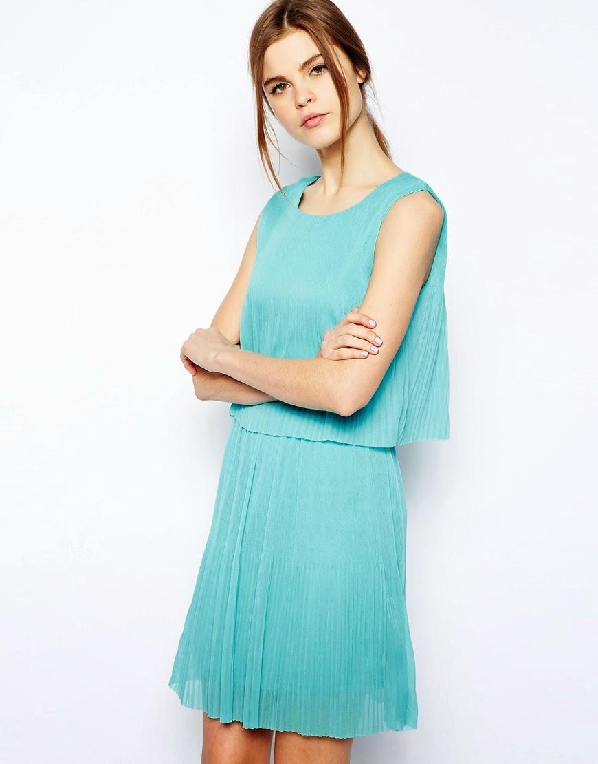 warehouse turquoise dress