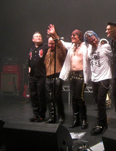 Adam Ant and band in concert, Hammersmith Apollo, London 19apr2014.