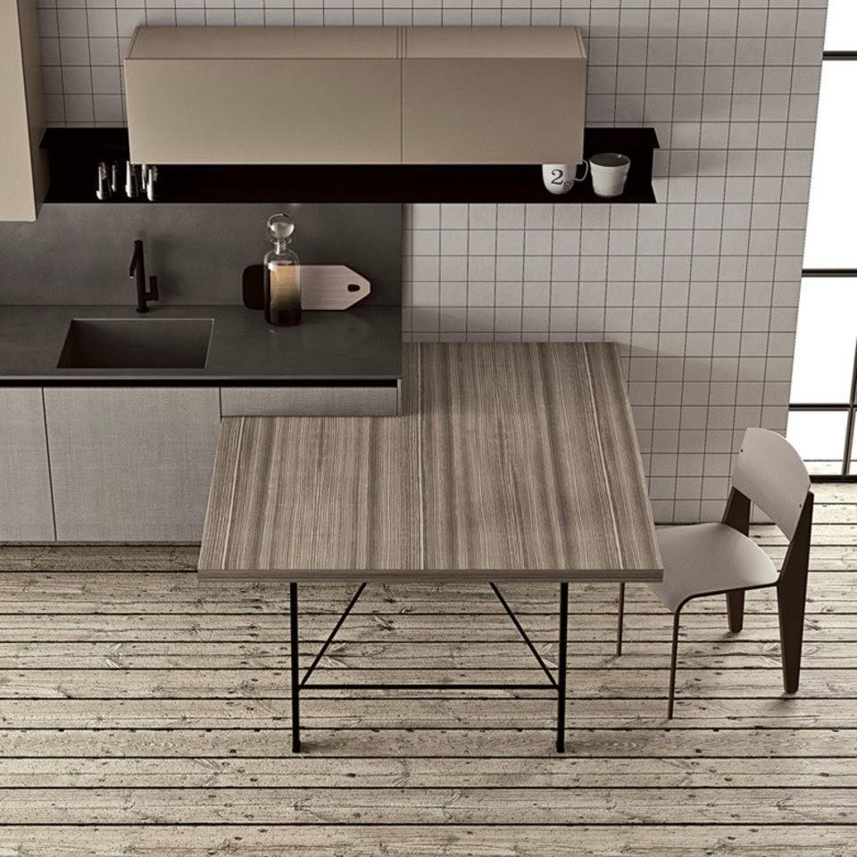 30 modelos de mesas y barras para cocinas de todos los - Mesas auxiliares para cocina ...