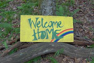 Random Welcome Home sign