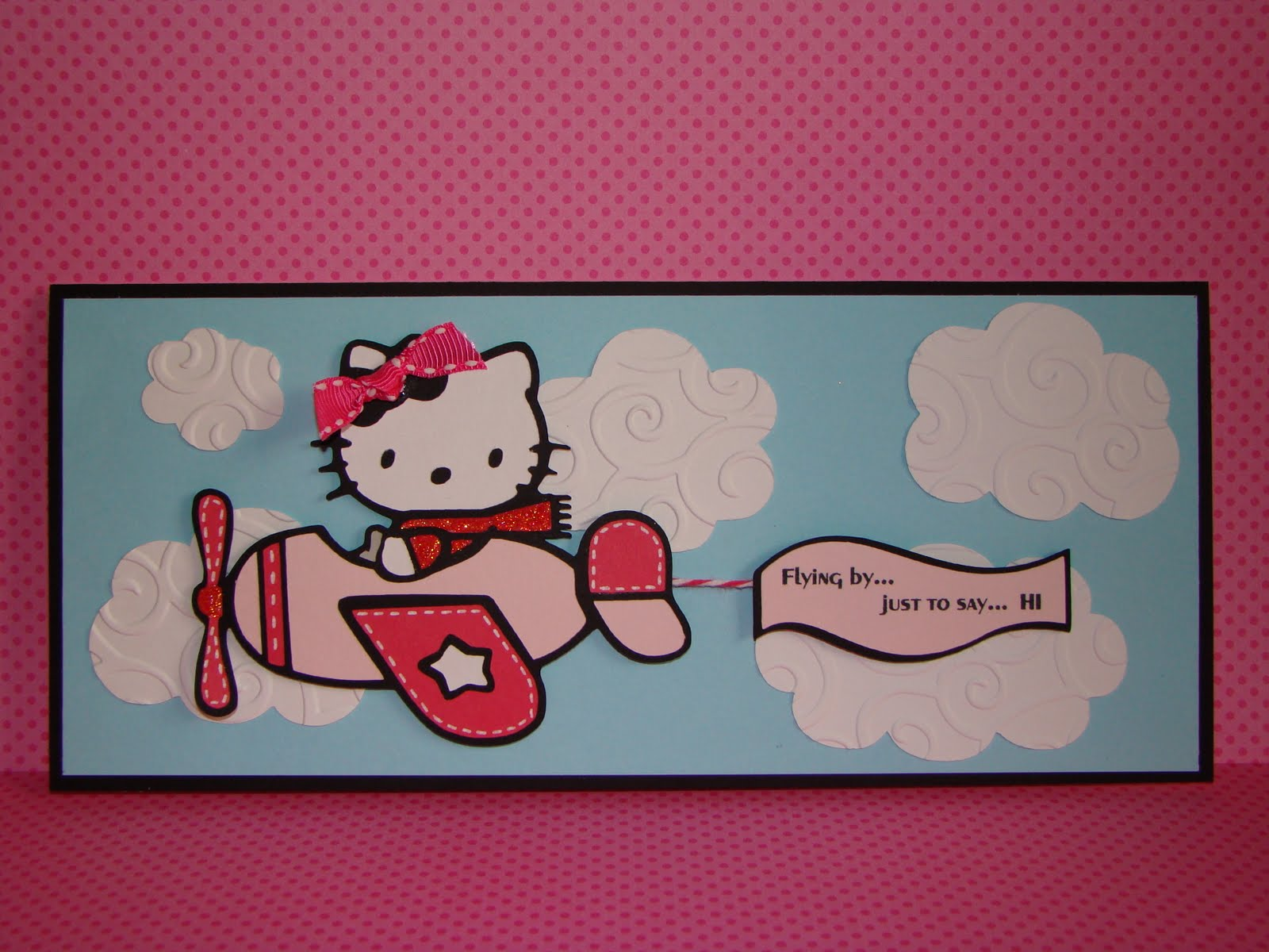 Creating with color by cassandra cricut 360 challenge blog so i decided to use the hello kitty greetings cricut cartridge for this super cute hello kitty flying the airplane unfortunately when i went back to the m4hsunfo