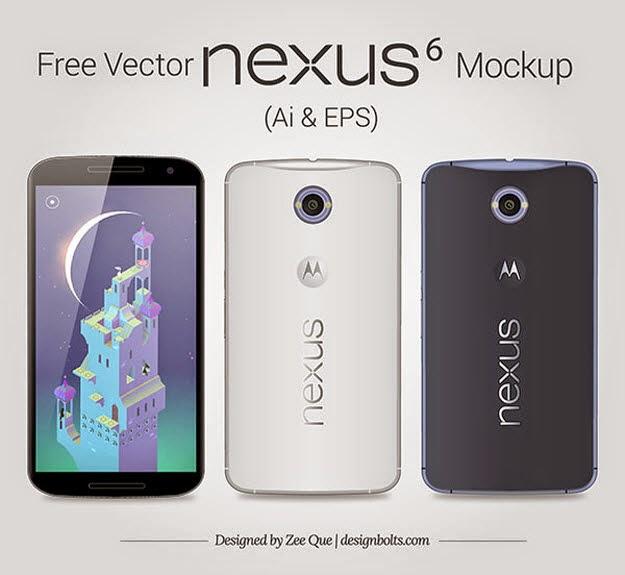 google Nexus 6 Mockup