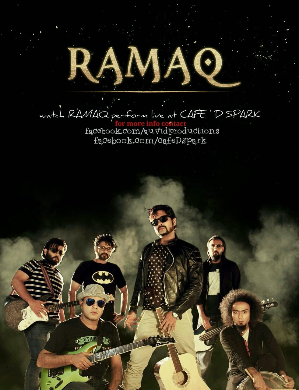 Watch RAMAQ perform live at Cafe D Spark