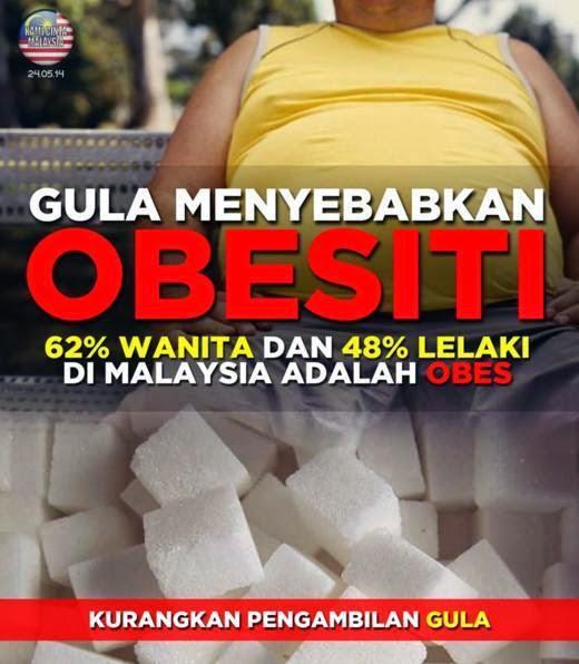 lelaki dan perempuan obesiti