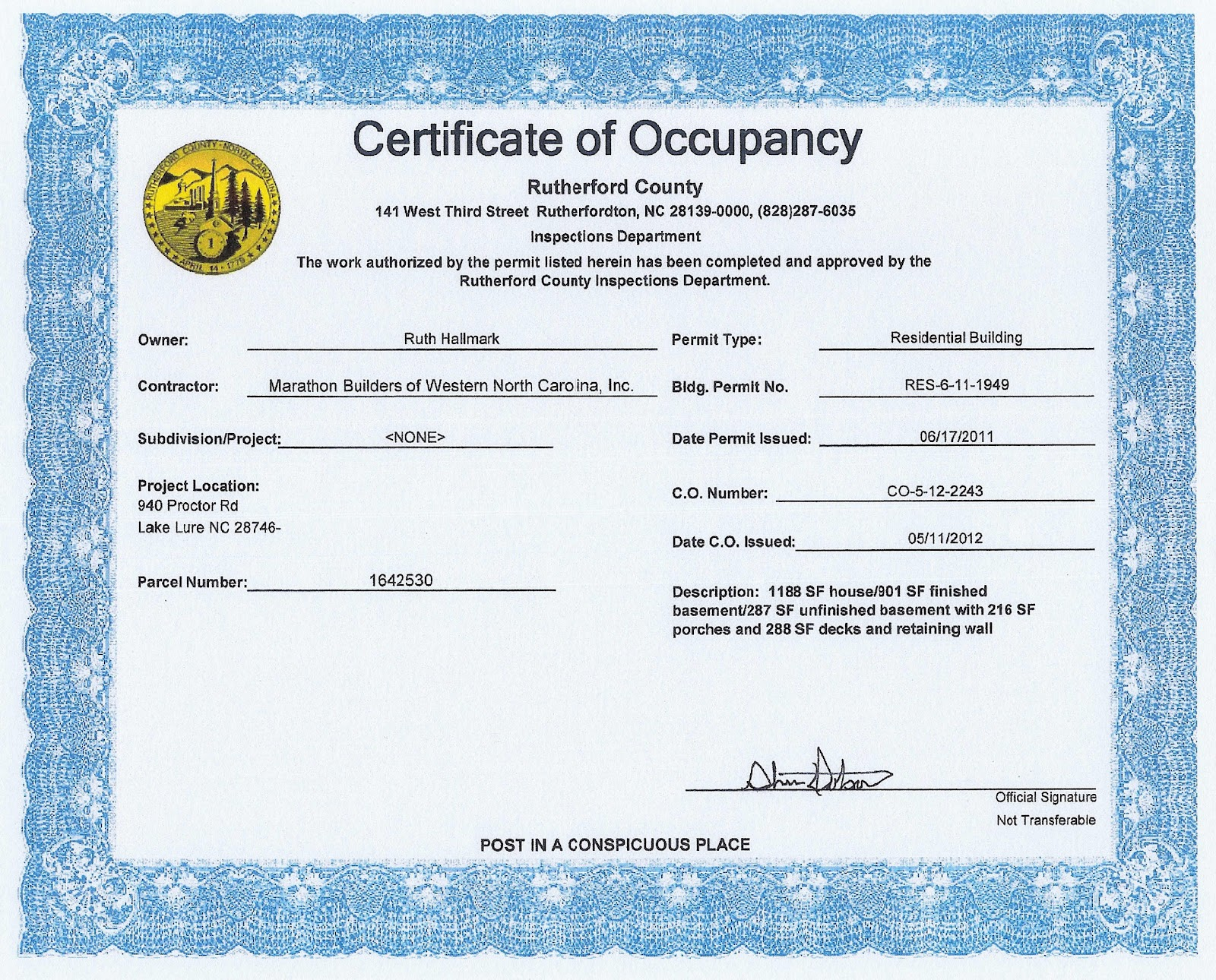 wonderful certificate of occupancy template contemporary