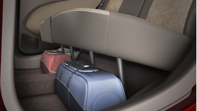 chevrolet sail u-va storage space under the rear seats