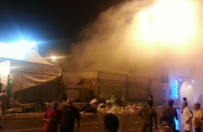 Khemah Jemaah Haji Terbakar Di Mina