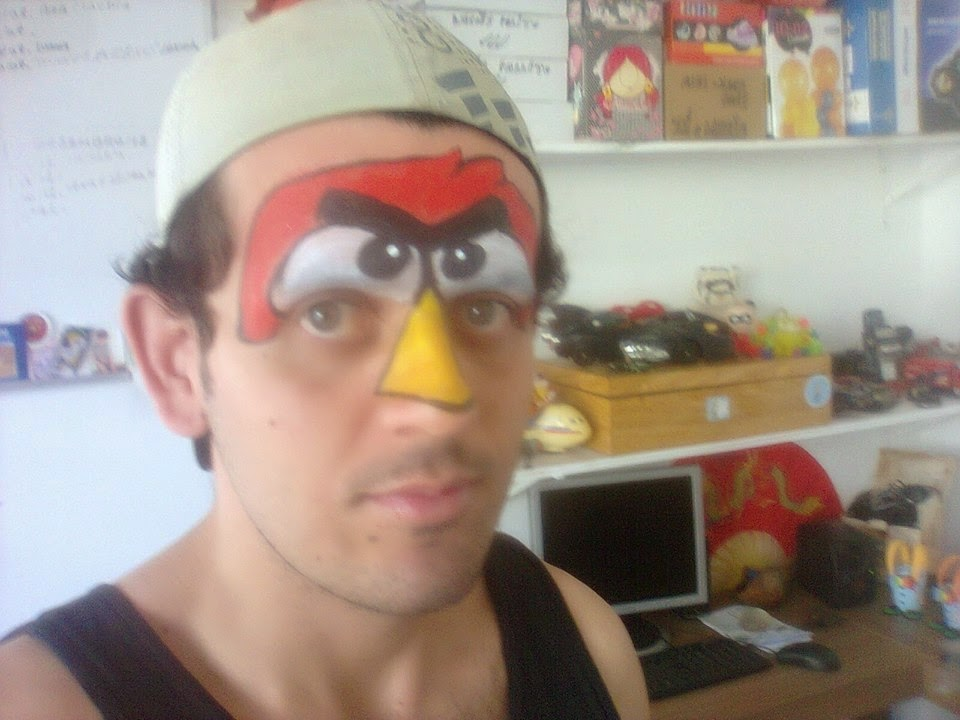 Pintura Facial - angry birds red