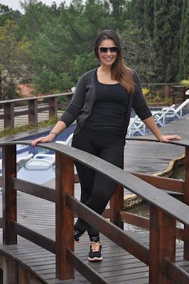 Débora Vilalba se hospeda no Spa Med