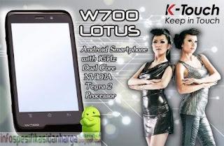 Harga K-Touch Lotus W700 Hp Terbaru 2012