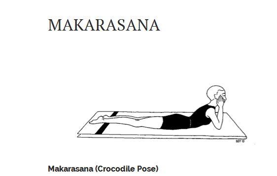 Makarasana (Crocodile Pose) - Yoga Asana for Relaxation & Back ...