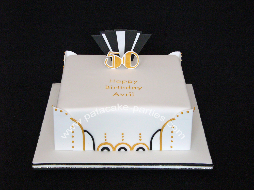 Art Deco Sheet Cake : Pat-a-Cake Parties: Art Deco Cake