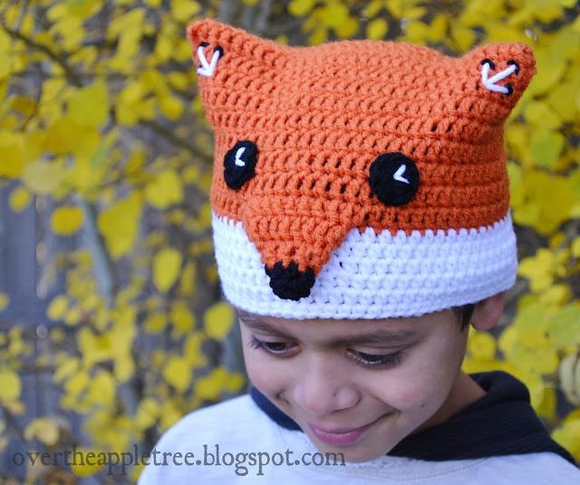 Children's Crochet Fox Hat by Over The Apple Tree