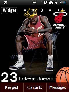 Corby 2 NBA Miami Heat Lebron James Samsung Themes Free Download Wallpaper