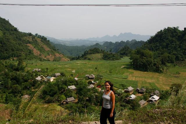 Cerca de Moc Chau, junto a la carretera.