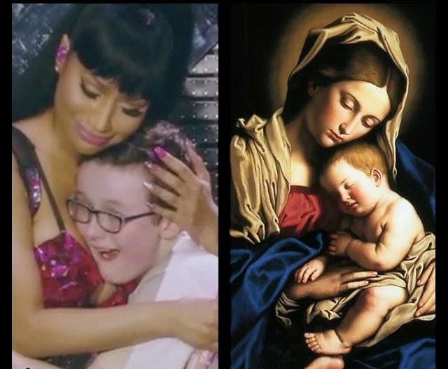 Nicki Minaj se cree la virgen María