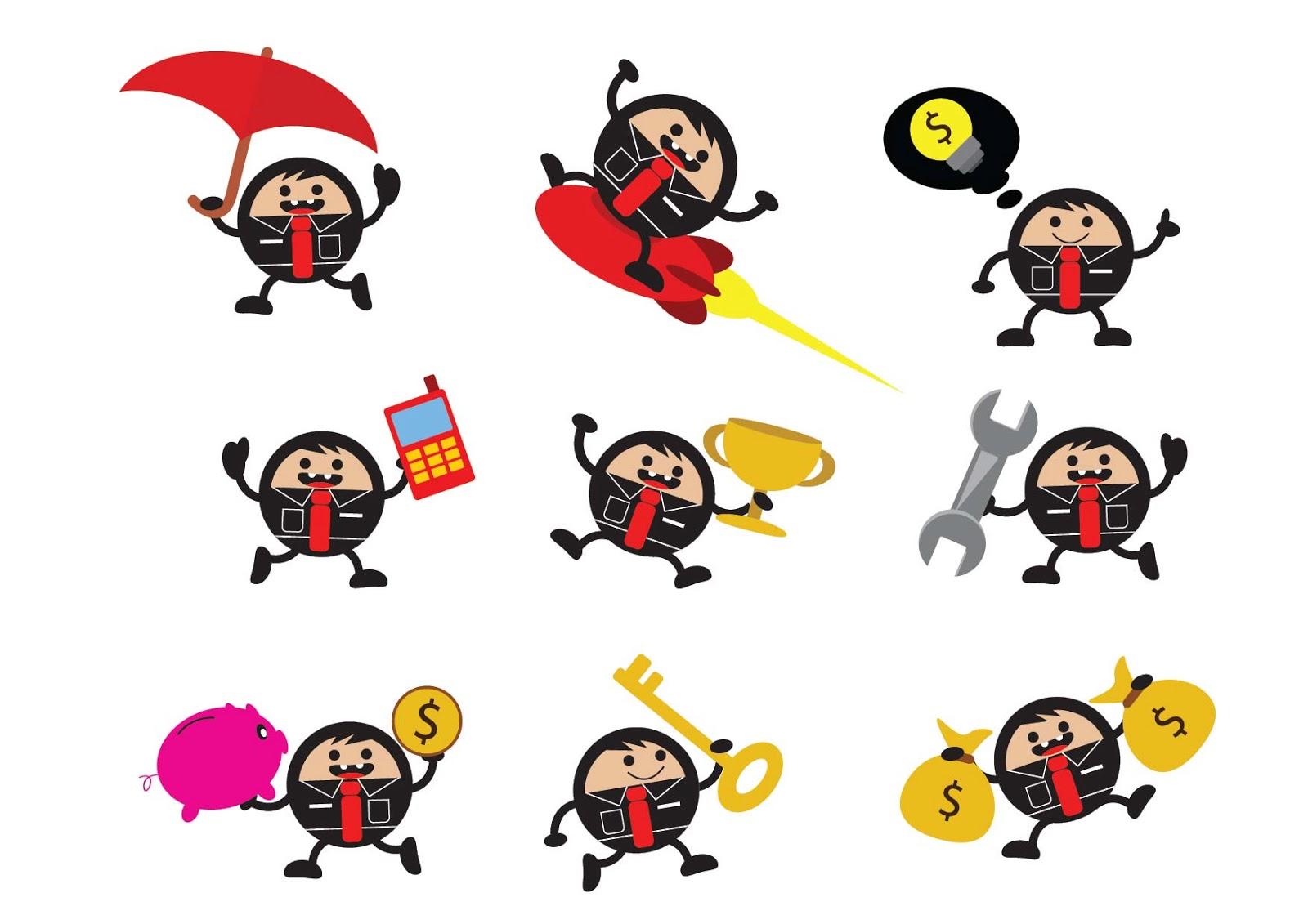 Shirt design layout -  Illustration Vector Graphic Business Businessman Cartoon Character Fun Funny Activities Marketing Presentation Idea Money Save Bank