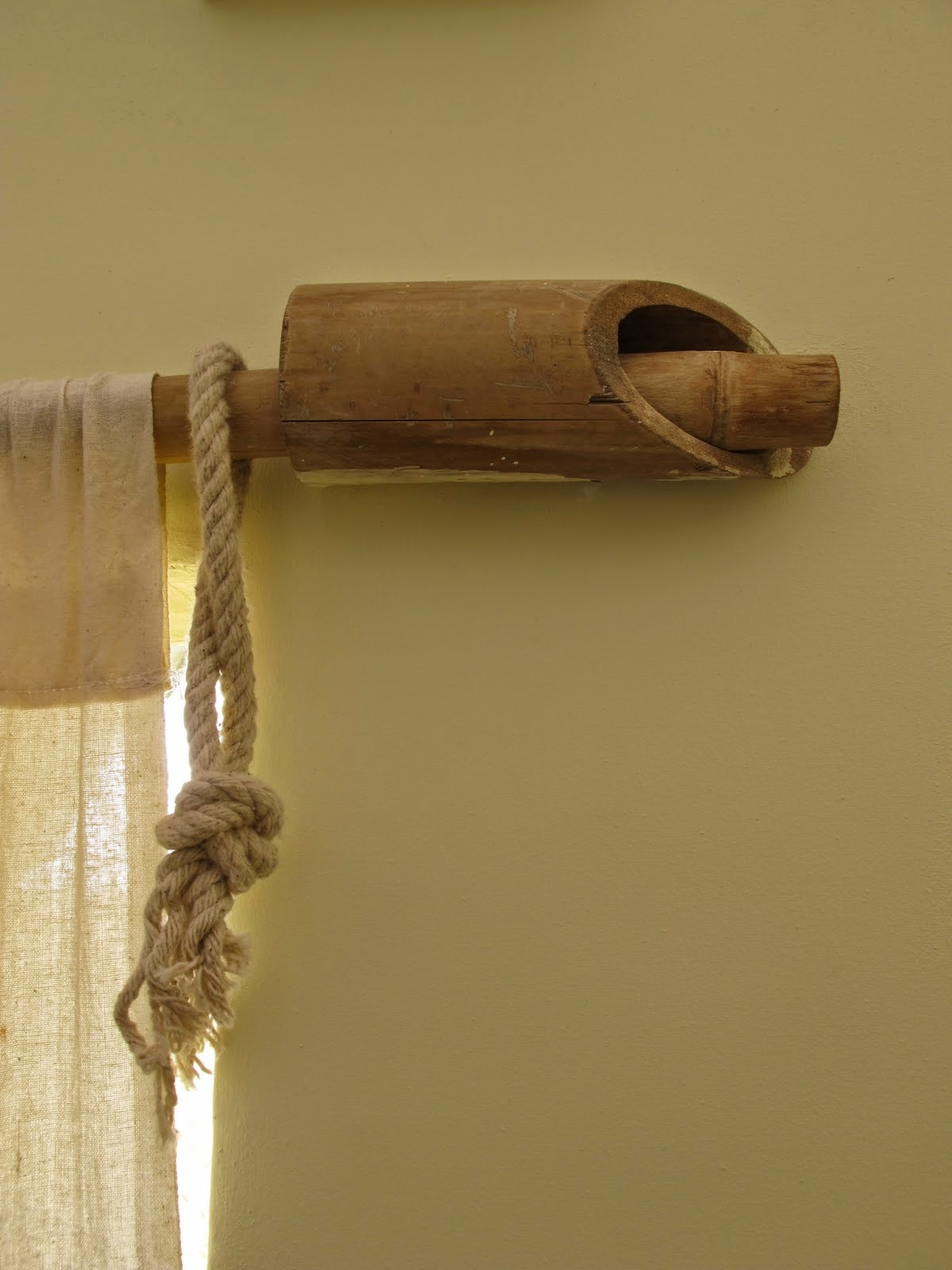 bamboo curtain rod ideas