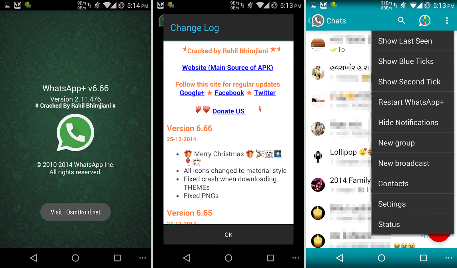 WhatsApp+ Plus 6.66C Material Modded Cracked
