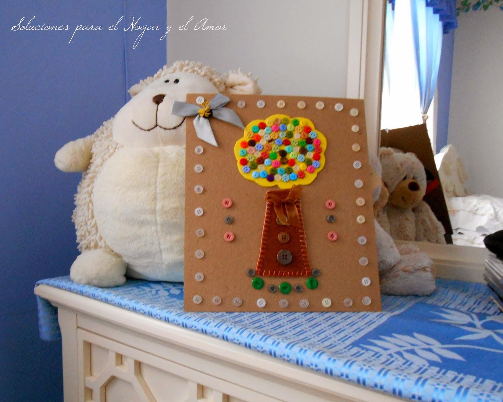 manualidades, DIY con  Botones, decoración con cuadro hecho de botones