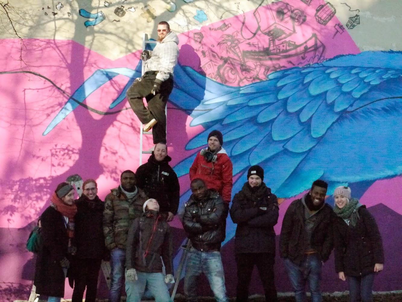 der blaue Vogel goes Camp - Gruppenfoto, alle Künstler und Helfer