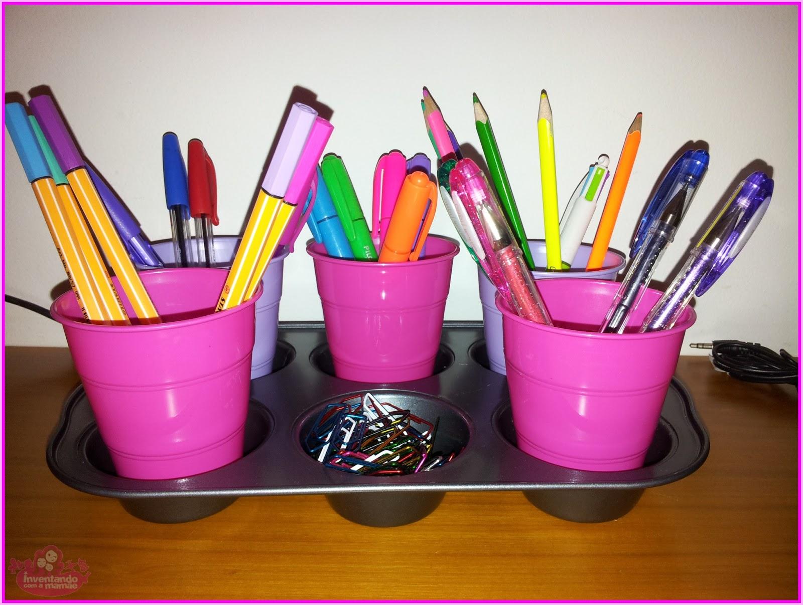 Reciclagem porta-lápis