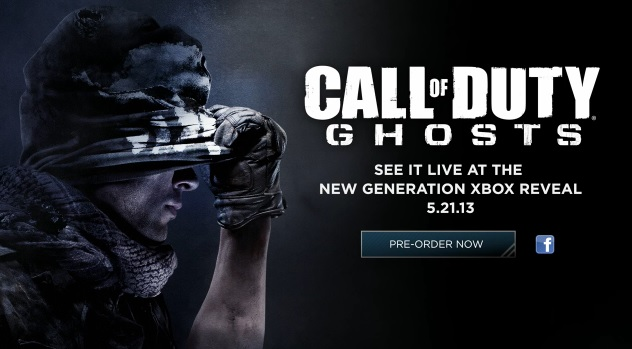 Call of Duty: Ghosts will be shown live during the unveiling of the next-gen Xbox