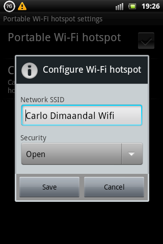 Xperia Mini Pro Wireless Hotspot Settings