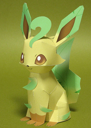 That evolves from eevee it is one of eevee s final forms the others