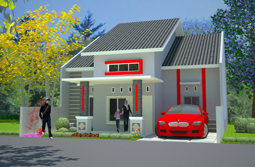 Desain Rumah Modern Type 70