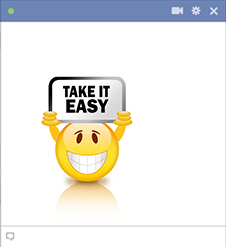 Facebook emoticon take it easy