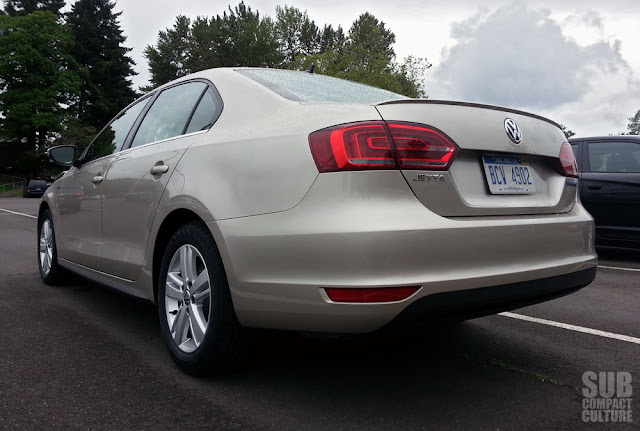 2013 Volkswagen Jetta Hybrid SEL from the back