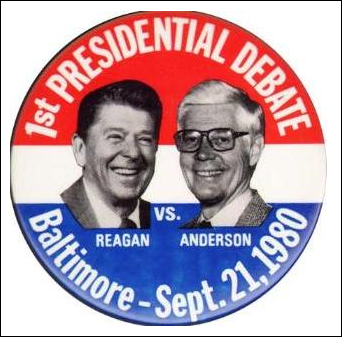 reagan vs carter In 1980, ronald reagan and jimmy carter debated one time, a few days before the election in this clip, the candidates focus on medicare, and reagan utters.