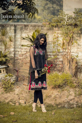 Zahra Ahmad Fancy Frock And Shalwar Kameez Chiffon