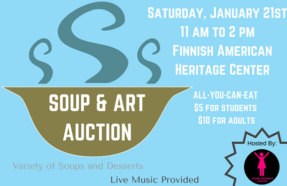 Soup and Art Auction fundraiser Jan. 21