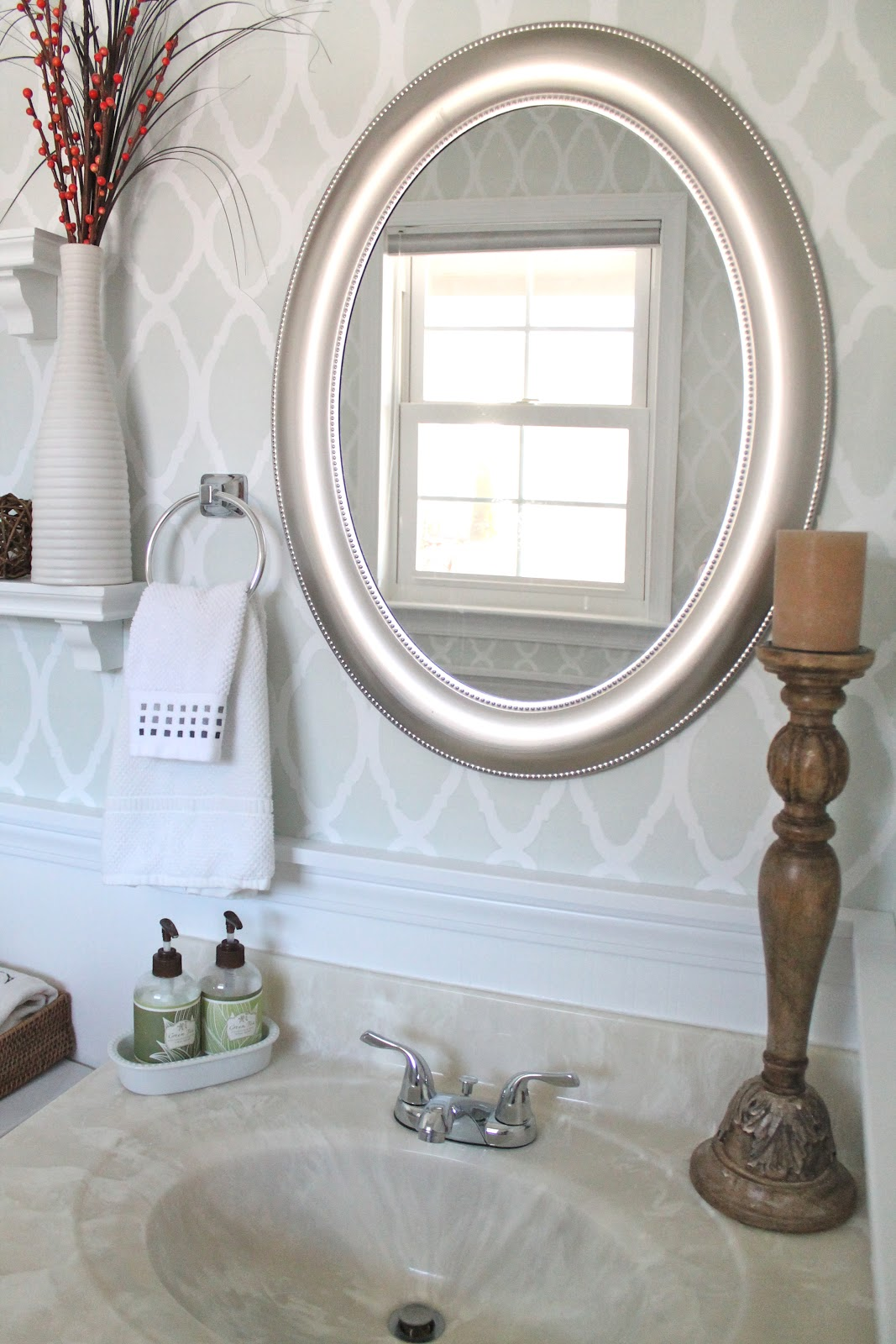 The Powder Room Reveal Welcometothemousehouse Com