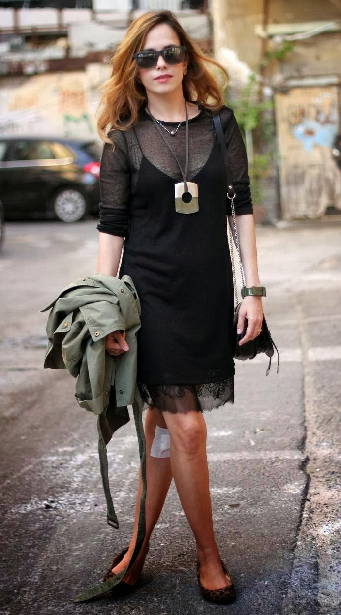 slip dress, lace, photo, street, wear,fashion-blog, zara,jacket, little black dress, style,Jennifer garner, magazine
