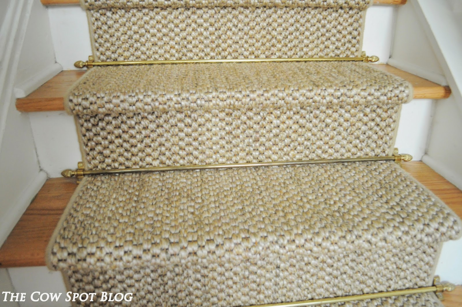 The One Element I Did Always Love About The Existing Stairs Was The Gold Stair  Rods. So, We Had The Guys Put Them Back On Atop The New Sisal Runner.