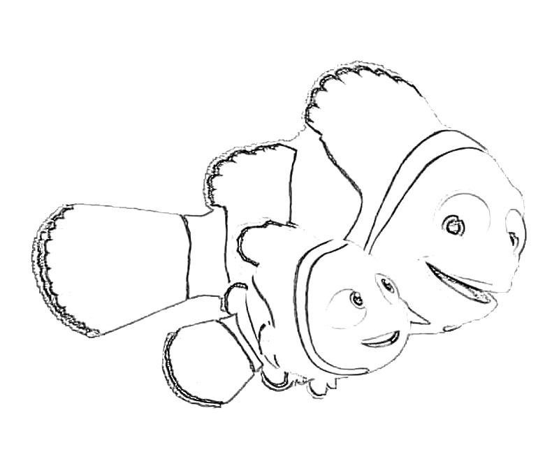 Printable Finding Nemo Nemo Cute Coloring Pages title=