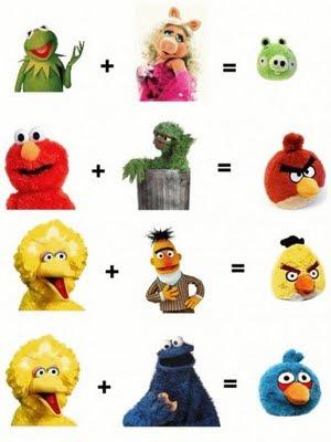Muppets + Susam Sokağı = Angry Birds?