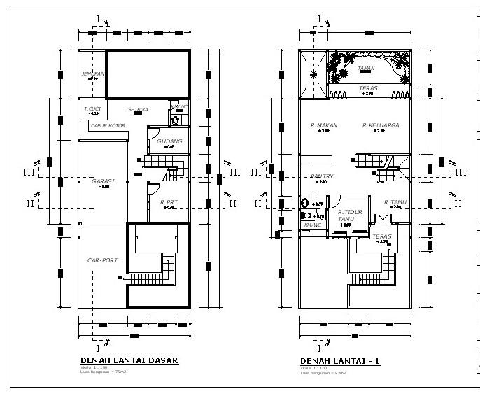 ... rumah terjaga sirkulasi udaranya denah rumah minimalis 2 lantai type