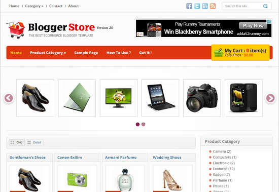 Free Online Templates | 10 Best Free Online Store Blogger Templates With Cart Tech Shortly